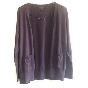 ELOQUII Everyday Cardigan Purple Rhapsody Sz 18/20